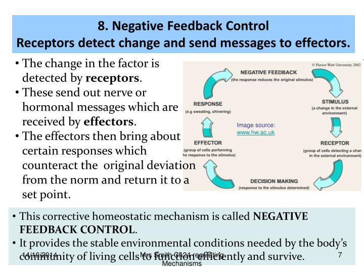 8. Negative Feedback Control