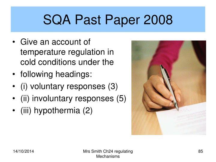 SQA Past Paper 2008