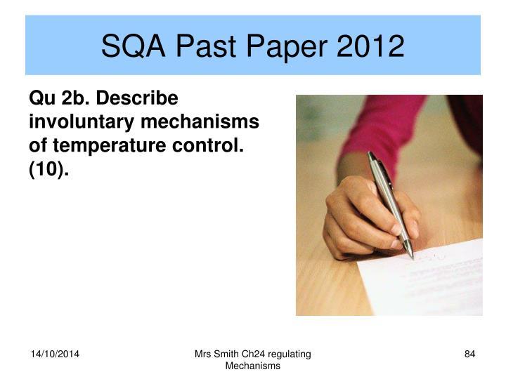 SQA Past Paper 2012