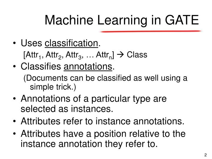 Machine learning in gate1