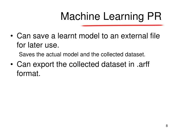 Machine Learning PR