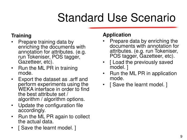 Standard Use Scenario