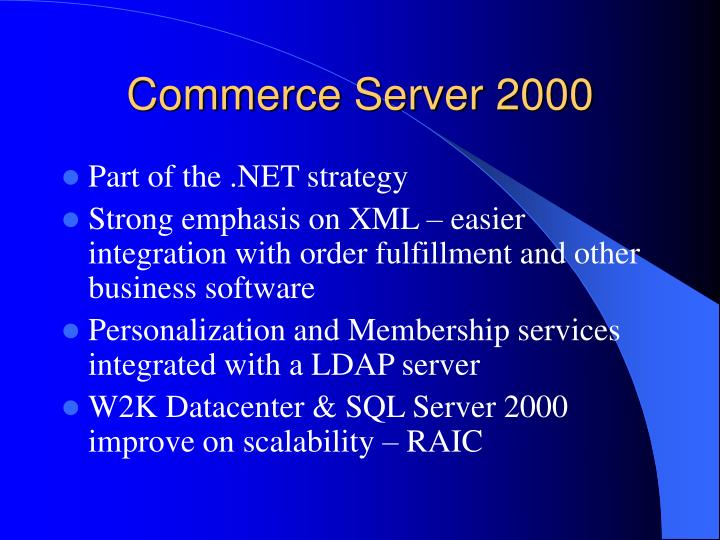 Commerce Server 2000