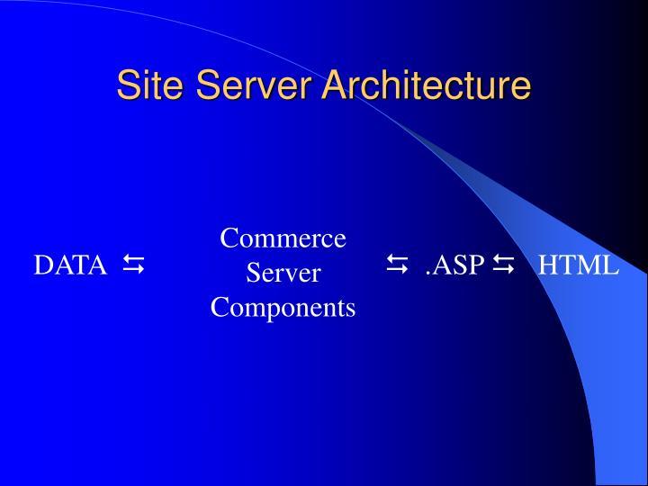 Site Server Architecture
