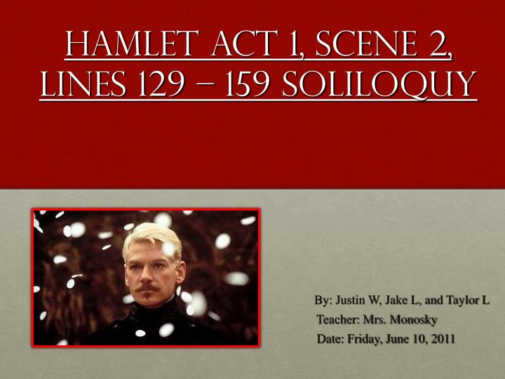 the soliloquies of hamlet