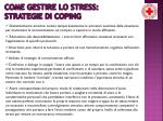 come gestire lo stress strategie di coping