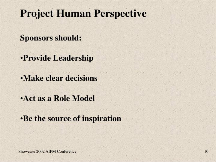 Project Human Perspective