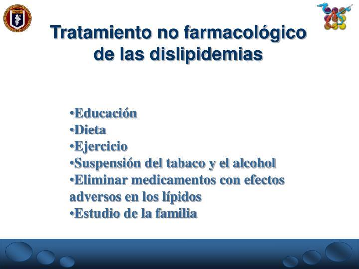 Tratamiento no farmacológico de las dislipidemias