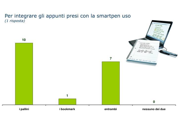 Per integrare gli appunti presi con la smartpen uso