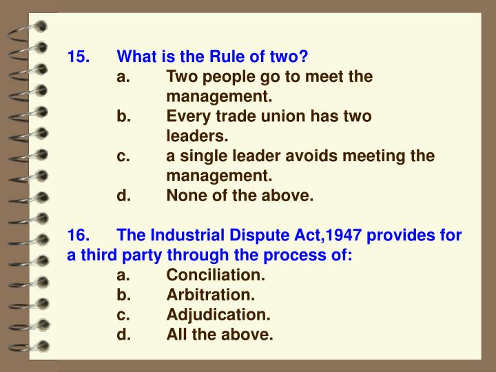 15.What is the Rule of two?