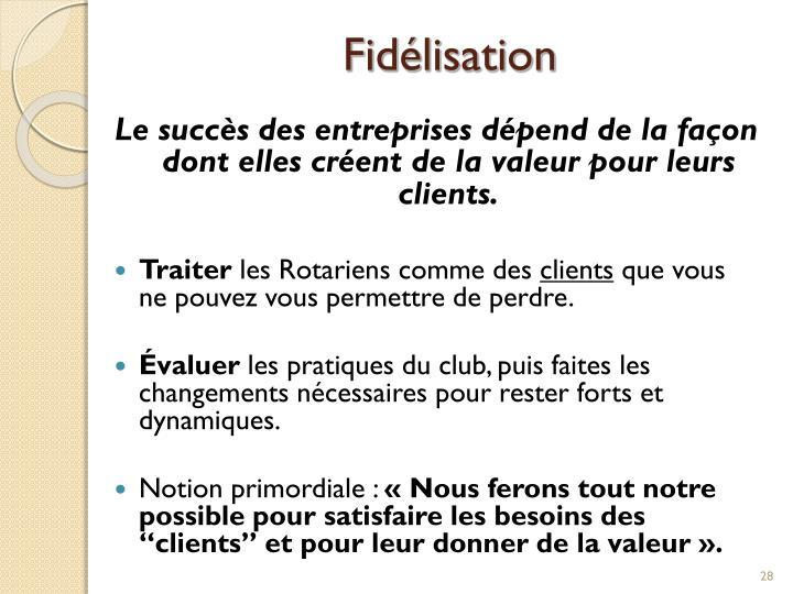 Fidélisation