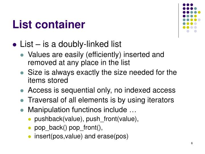 List container