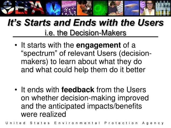 It's Starts and Ends with the Users