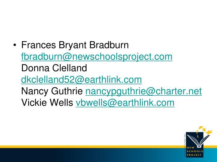 Frances Bryant Bradburn