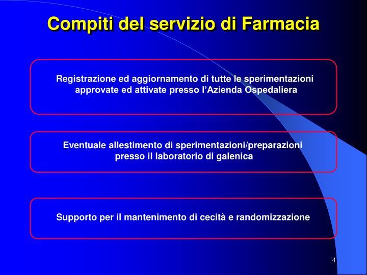 Compiti del servizio di Farmacia