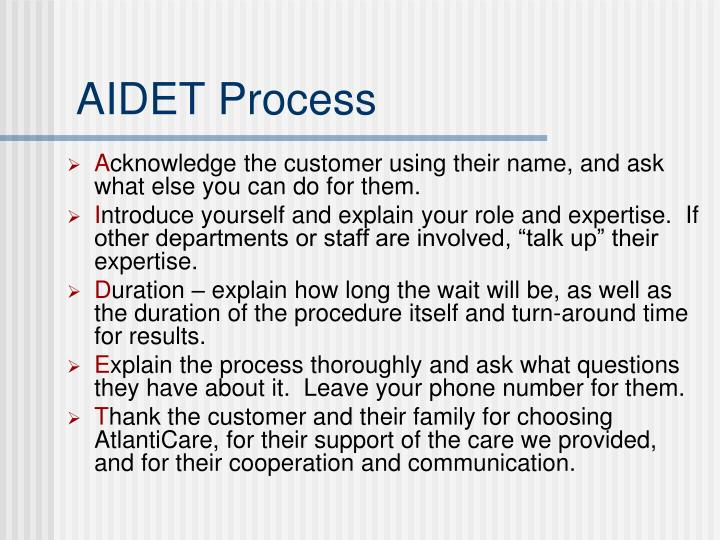 AIDET Process