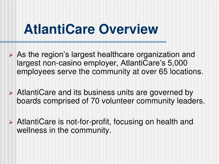 AtlantiCare Overview