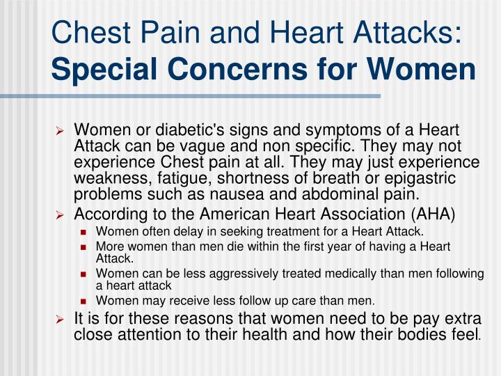 Chest Pain and Heart Attacks: