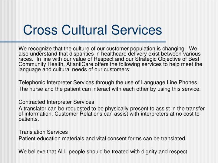 Cross Cultural Services