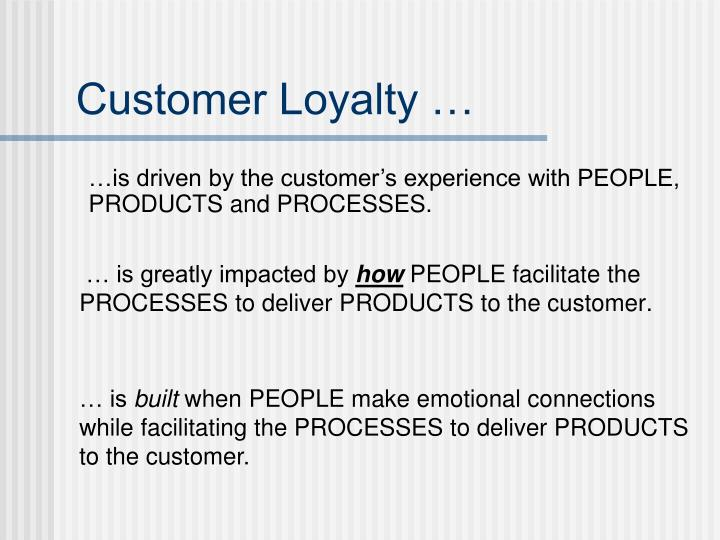 Customer Loyalty …