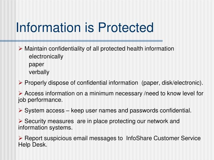 Information is Protected