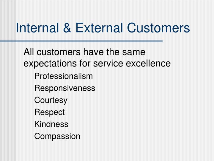 Internal & External Customers