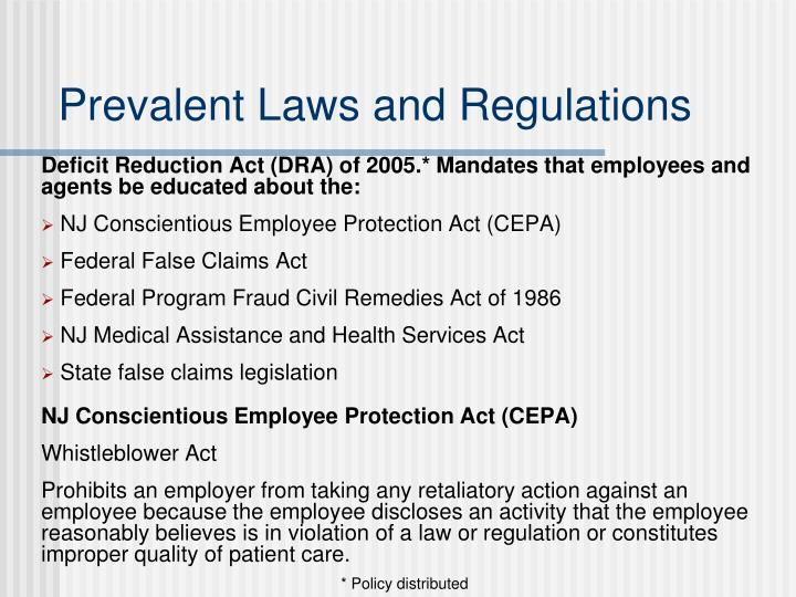 Prevalent Laws and Regulations