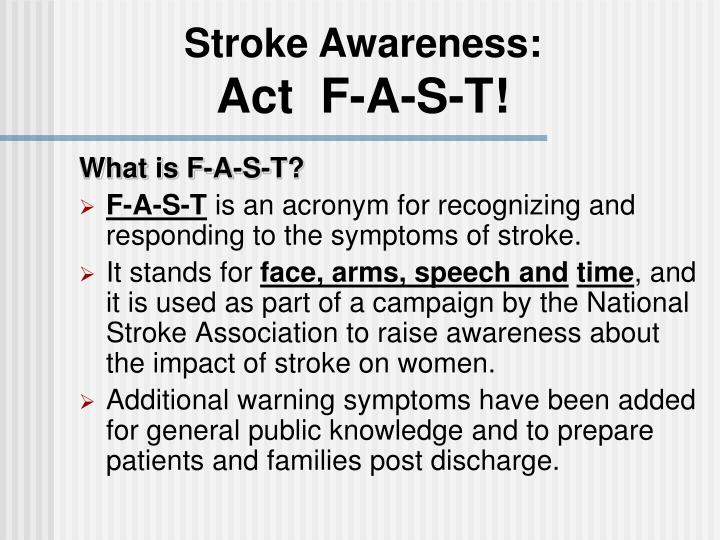 Stroke Awareness: