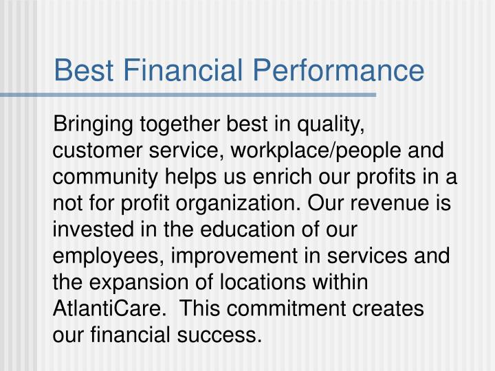 Best Financial Performance