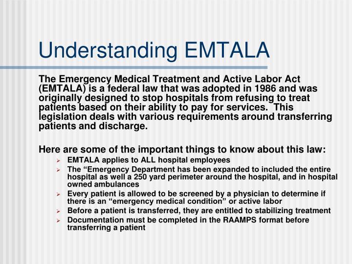 Understanding EMTALA