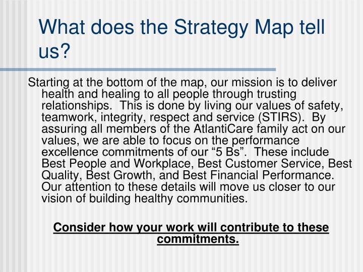 What does the Strategy Map tell us?