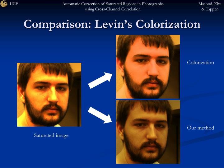 Comparison: Levin's Colorization