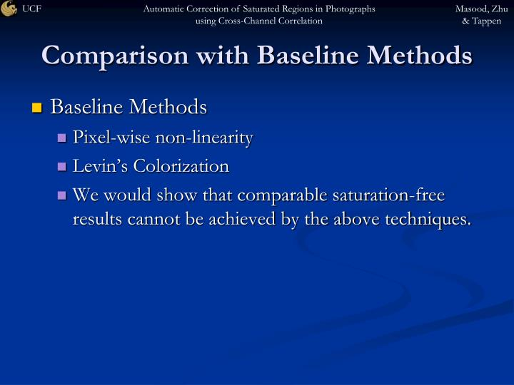 Comparison with Baseline Methods