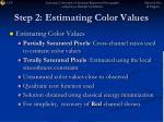 step 2 estimating color values