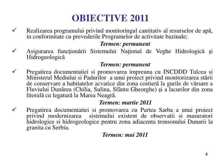 OBIECTIVE 2011