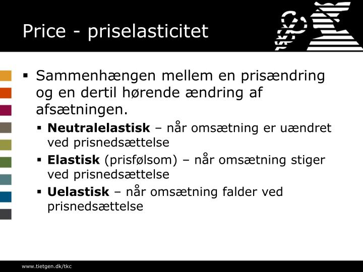 Price - priselasticitet