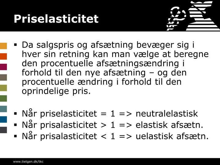 Priselasticitet
