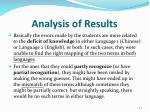 analysis of results4