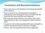 conclusion and recommendations1