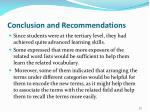 conclusion and recommendations4