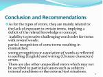 conclusion and recommendations5