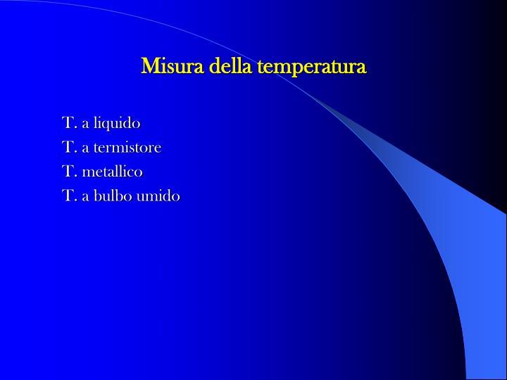 Misura della temperatura