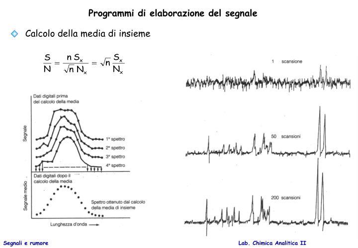 Programmi di elaborazione del segnale