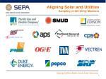 aligning solar and utilities sampling of 340 utility members