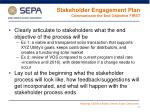 stakeholder engagement plan communicate the end objective first