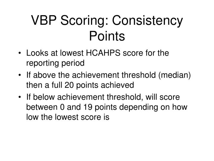 VBP Scoring: Consistency Points