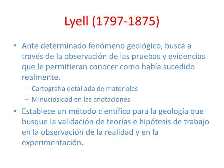 Lyell (1797-1875)