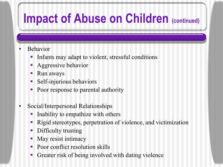 Impact of Abuse on Children