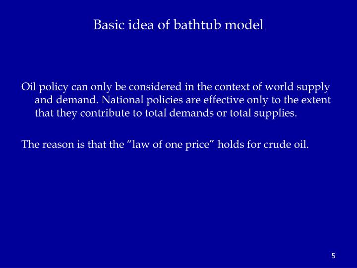 Basic idea of bathtub model