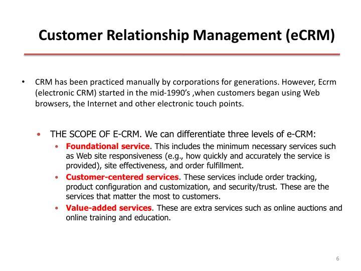Customer Relationship Management (eCRM)